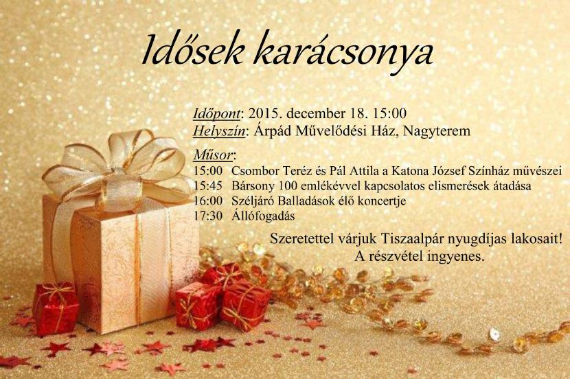Idősek karácsonya @ Árpád Művelődési Ház