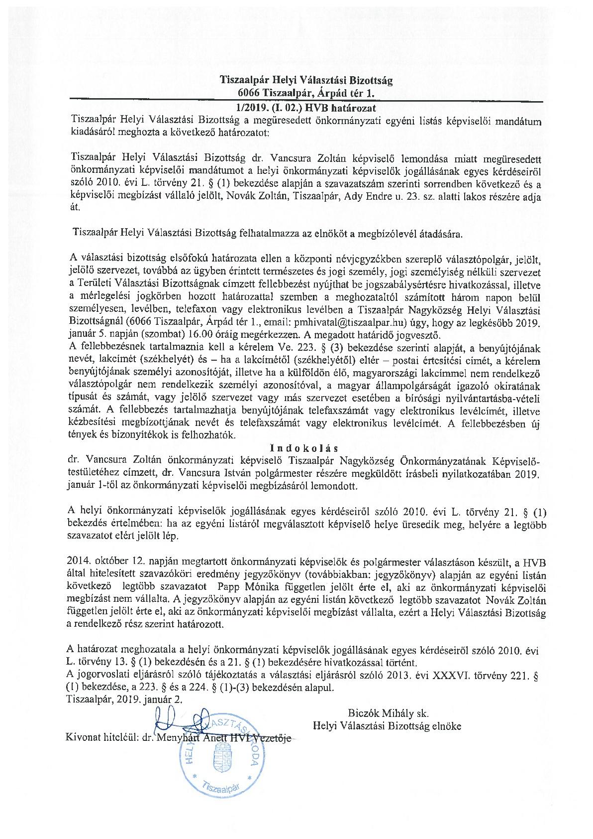 HVB határozat-001