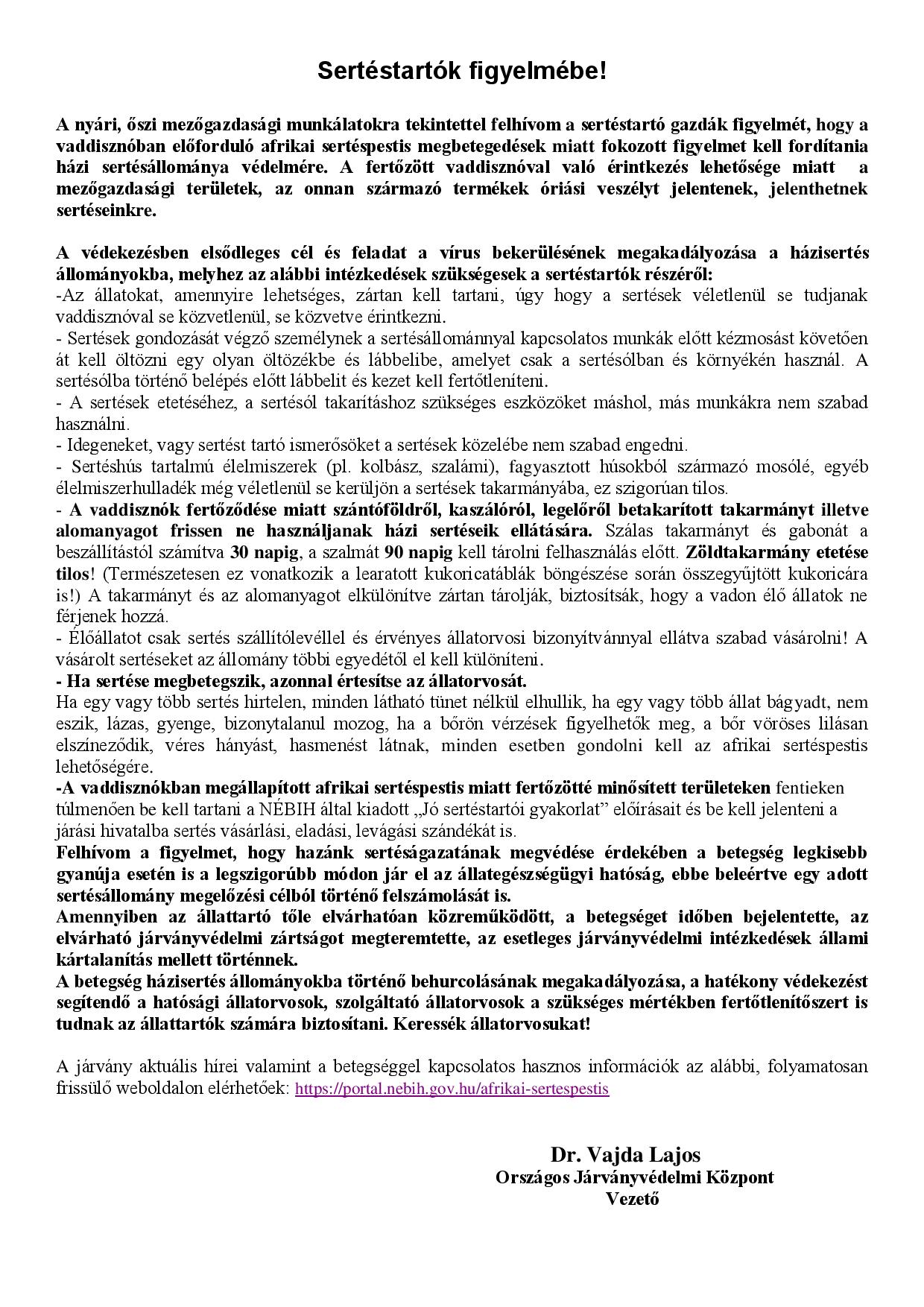 Afrikai sertéspestis hirdetmény 2019_VL-page-001